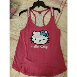 Hello Kitty Tank Top with Lace Accent